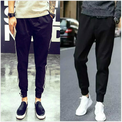 Breathable thin section j nine sports pants men tide casual pants men's pants Slim couple models men's pants 9.9