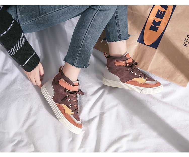 XCZJ 2019 autumn and winter new Martin boots female students Korean version of cotton shoes plus velvet women's shoes boots 25