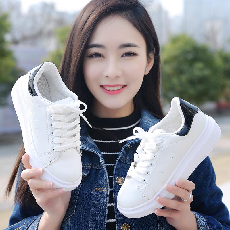 2018春季新款小白鞋女韩版百搭学生老爹原宿夏季ulzzang运动板鞋