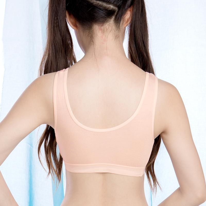 ad1a53a094 ... Student bra youth underwear female junior high school girl sports modal  vest cotton corset development period ...
