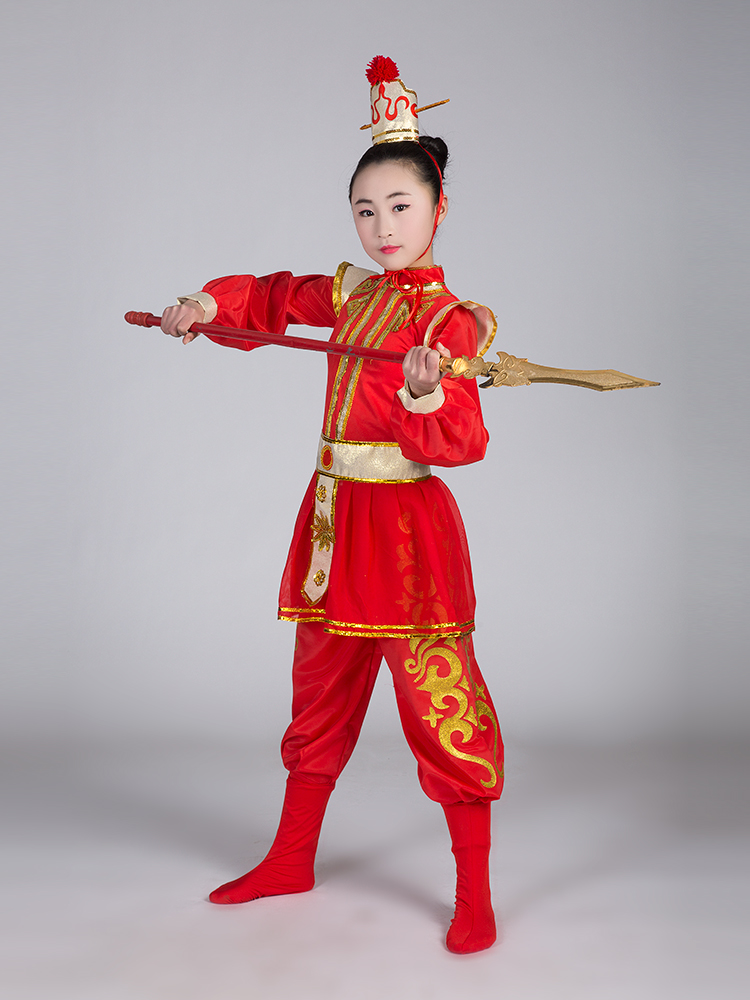 29b40f105 Children adult ancient soldier costume costume armor drama performance  clothing flower Mulan costumes uniforms new style