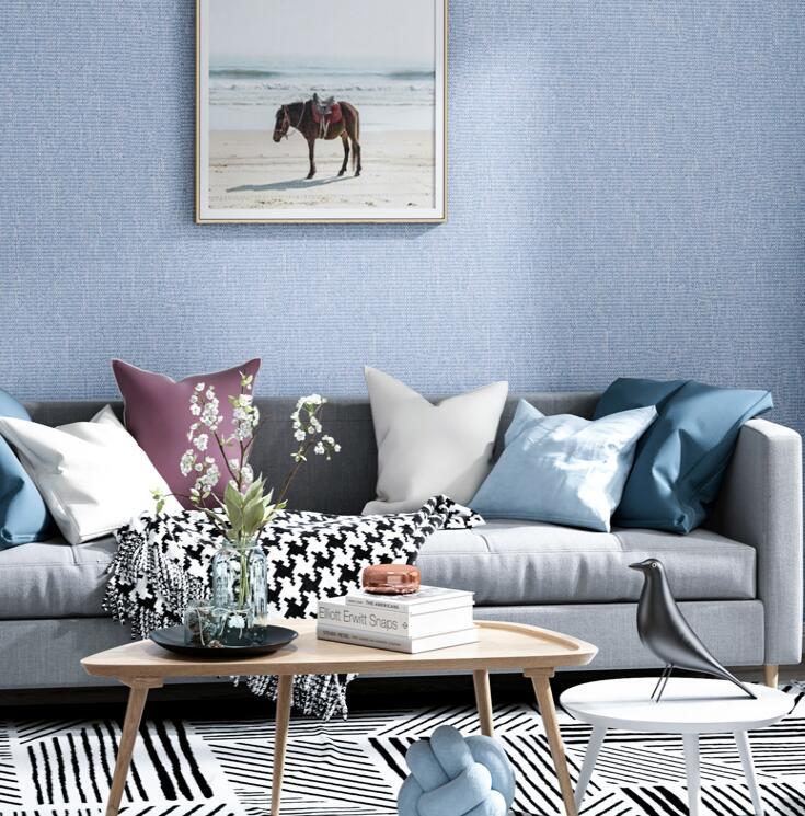 素色棉绒墙布,轻松打造简约健康舒适家! 素色墙布-第16张
