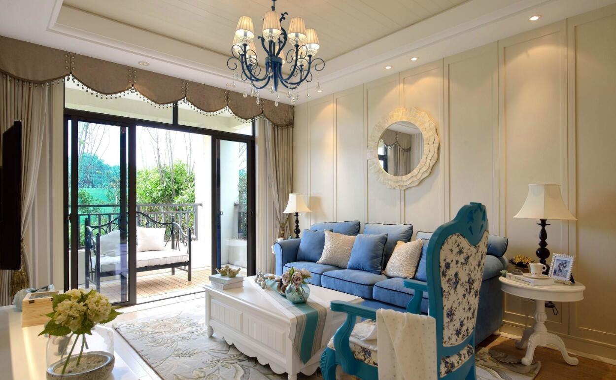高质美式风格客厅,颜值功能两不误