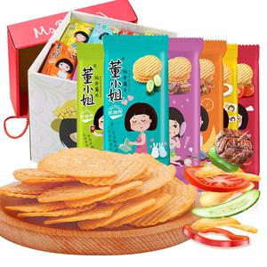 董小姐薯片网红轻食非油炸薯片小包装好吃的膨化食品零食礼包整箱