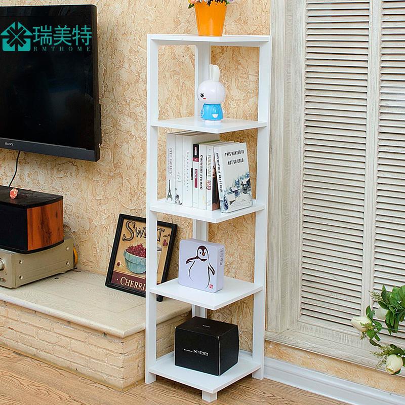 Living Room Bedroom Corner Shelf Floor Bookshelf Flower Multi Layer TV Wall