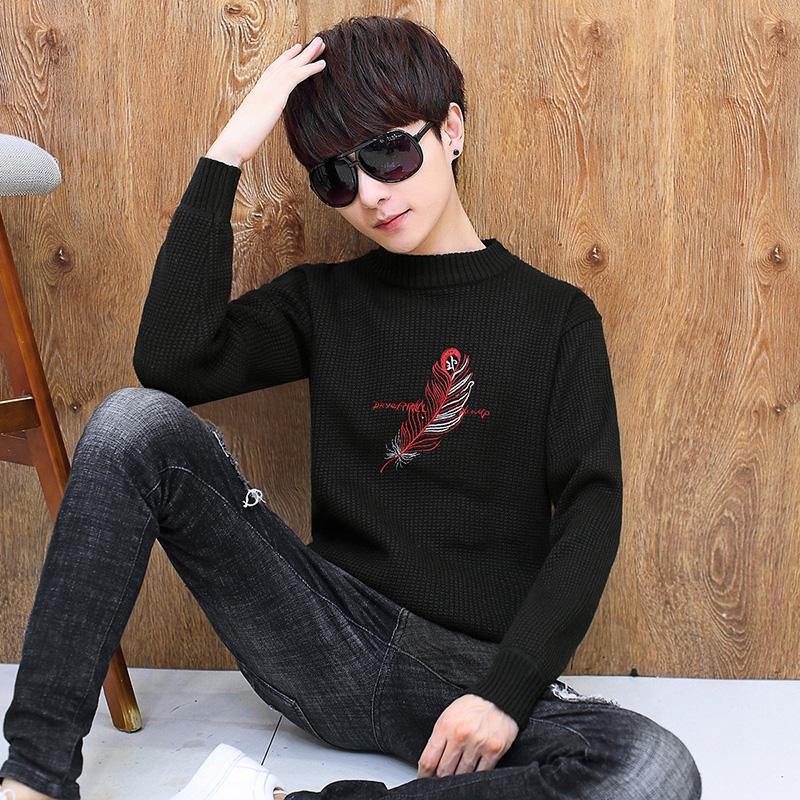 青少年12毛衣13冬季14加厚15打底16岁初中男孩学生大童针织羊绒衫