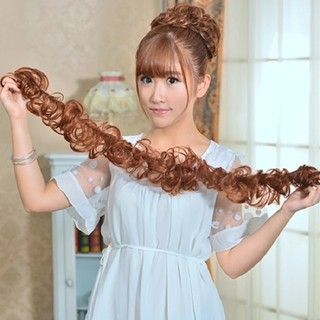 Wig haired hair ring caterpillar winding disc hairpin ladies curling flower gossip head bride fluffy hair accessories