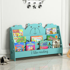 Children's small bookshelf simple bookshelf floor racks baby bookcases economical cartoon children's three-layer picture book stand