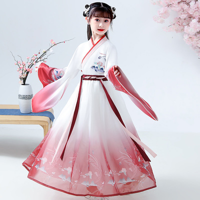 Chinese Hanfu costume girls dress girls Chinese Hanfu Ru skirt super immortal Chinese style childrens ancient fairy dress Tang dress Hanfu suit