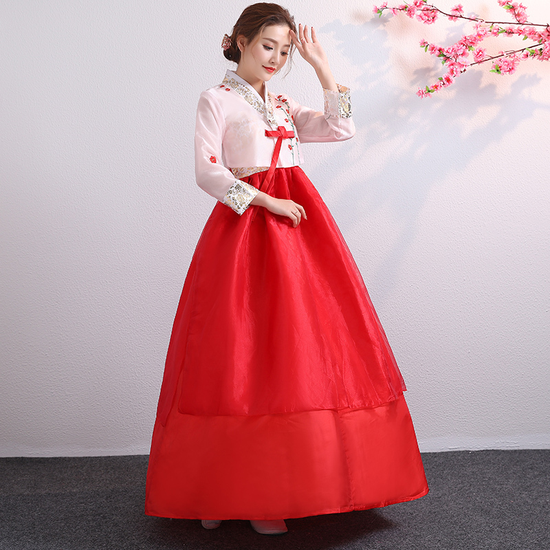 Embroidered Korean traditional court ladies Korean costumes Korean chorus costumes ethnic minority dance costumes
