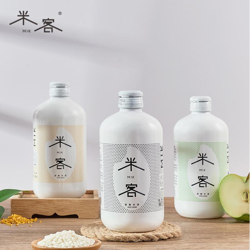 米客糯米酒低度花果水果酒350ml*3瓶