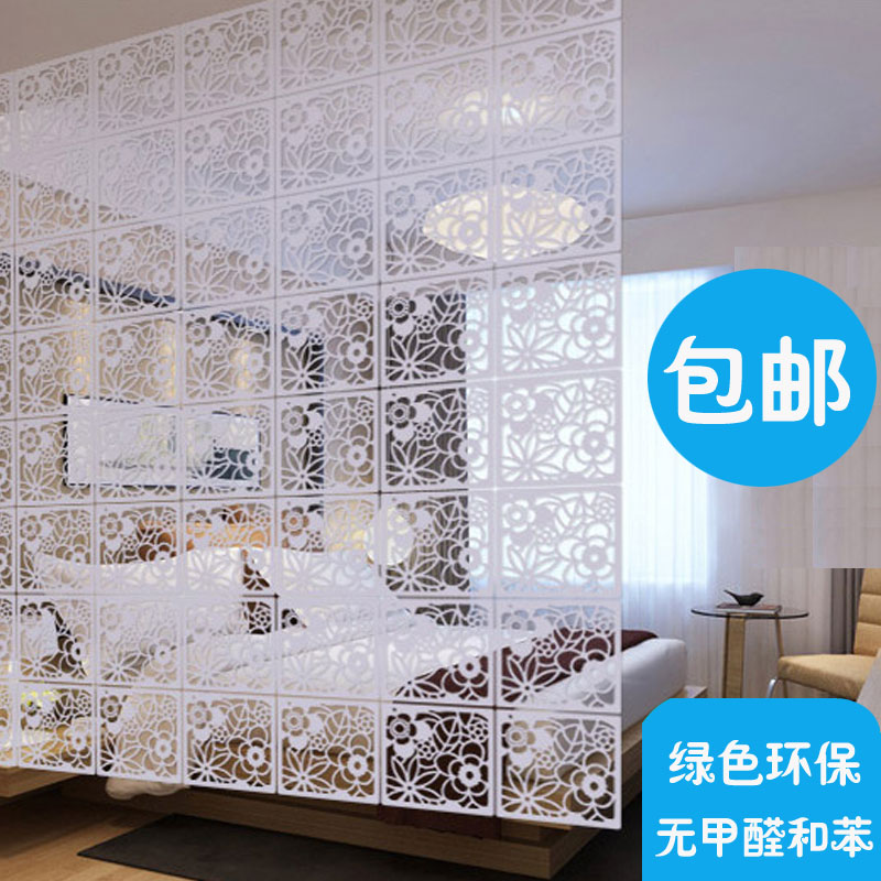 Легко континентальный экран отрезать мода гостиная спальня простой современный вход резьба сложить вешать занавес сын мягкий сложить экран