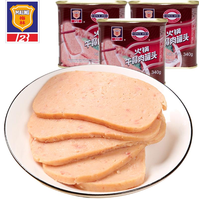 上海梅林 火锅午餐肉罐头 340g*4罐 天猫优惠券折后¥34包邮(¥54-20)