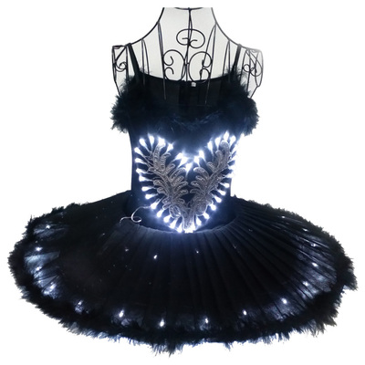Luminous ballet dancers, performing suits, adult fluorescent dance skirts, costumes, LED lantern dance costumes