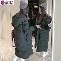 东大门羽绒棉衣服女中长款加厚棉袄2018新款韩版宽松学生冬季外套