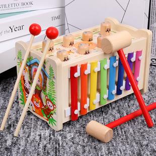 打地鼠幼儿童益智敲琴动物玩具