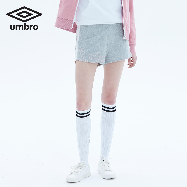 茵宝UMBRO女装夏休新款短裤运动休闲短卫裤时尚拼接透气跑步热裤