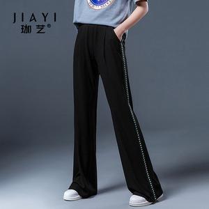 夏季新款韩版宽松休闲显瘦阔腿裤