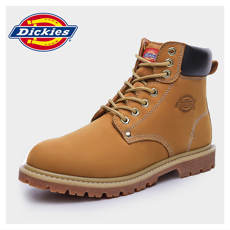 f62253535d1 Dickies men's shoes tooling shoes high-top Martin boots leather rhubarb  boots men plus cashmere warm cotton shoes boots