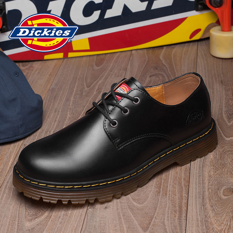 a4df4d2831c Dickies men's shoes fall casual shoes leather British Korean tooling shoes  low to help round thick big shoes