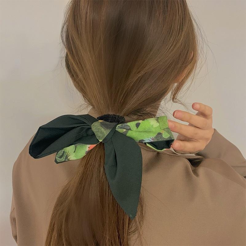韩国ins发带法式丝巾飘带网红复古丝带 简约少女头绳头饰缎面领巾