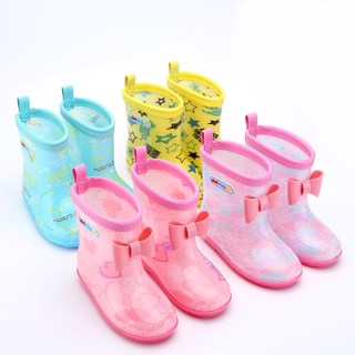 Children's rain boots non-slip baby rain boots short tube children boys girls water shoes cute children rain boots kids water boots