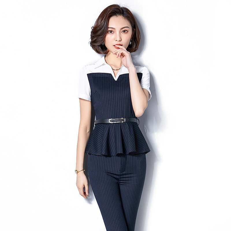 0fd451a358 USD 230.75  Striped professional suit female Summer 2019 new fashion ...
