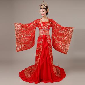 Chinese Folk Dance Dress Ancient costume Adult Fairy Princess Princess tailed Hanfu female Tang Dynasty Ru skirt portrait guzheng performance costume show