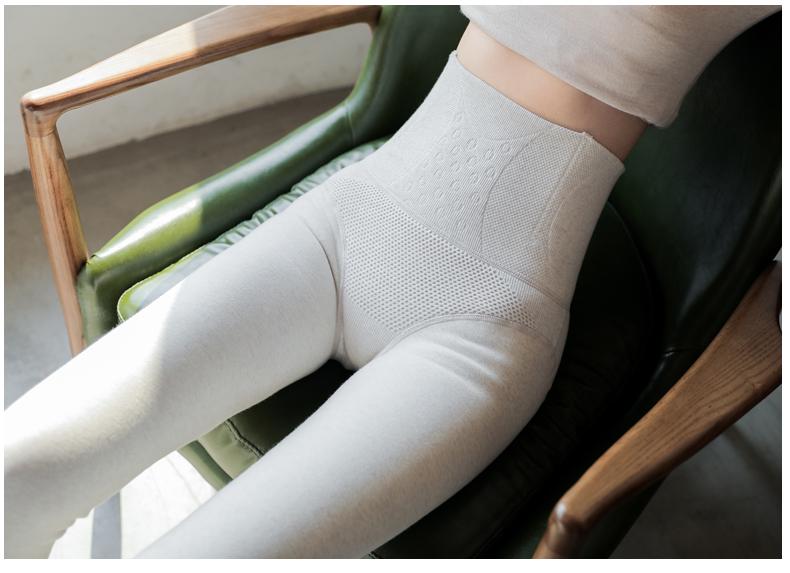 收腹加绒内搭裤女灰色羊绒内外穿一体裤秋冬裤压力紧身保暖棉裤详细照片