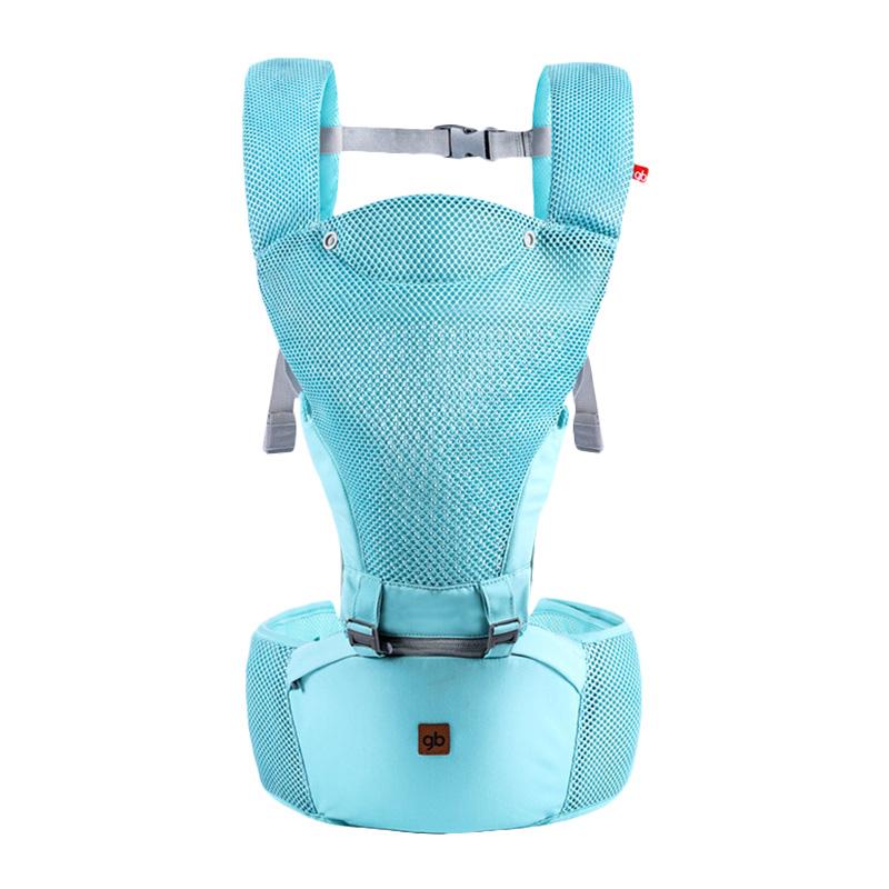 好孩子婴儿背带腰凳宝宝背带灰色绿色婴儿腰凳背带轻透系列高级灰