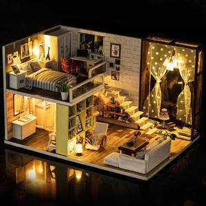 diy小屋别墅手工制作小房子模型拼装建筑艺术屋子玩具生日礼物女
