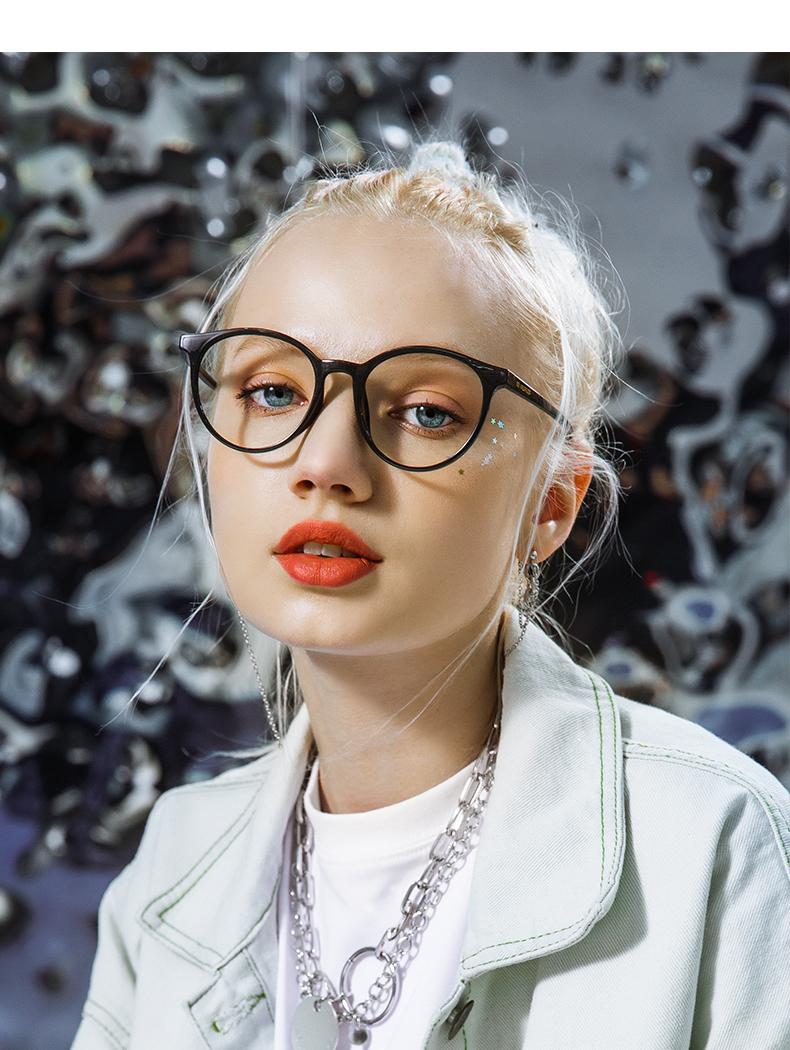 川久保玲復古圆形黑框眼镜男近视眼睛框镜架女减龄素颜光学镜详细照片