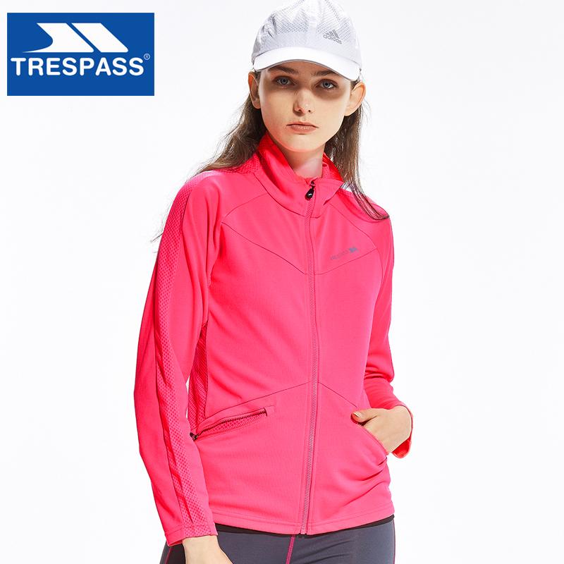 英国 TRESPASS 趣越 薄款 女式跑步抓绒衣 天猫优惠券折后¥49包邮(¥99-50)2色可选
