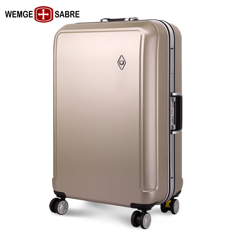 54d3866af66 Swiss Army knife aluminum frame trolley case universal wheel suitcase male  luggage ins net Red female · Zoom · lightbox moreview · lightbox moreview  ...