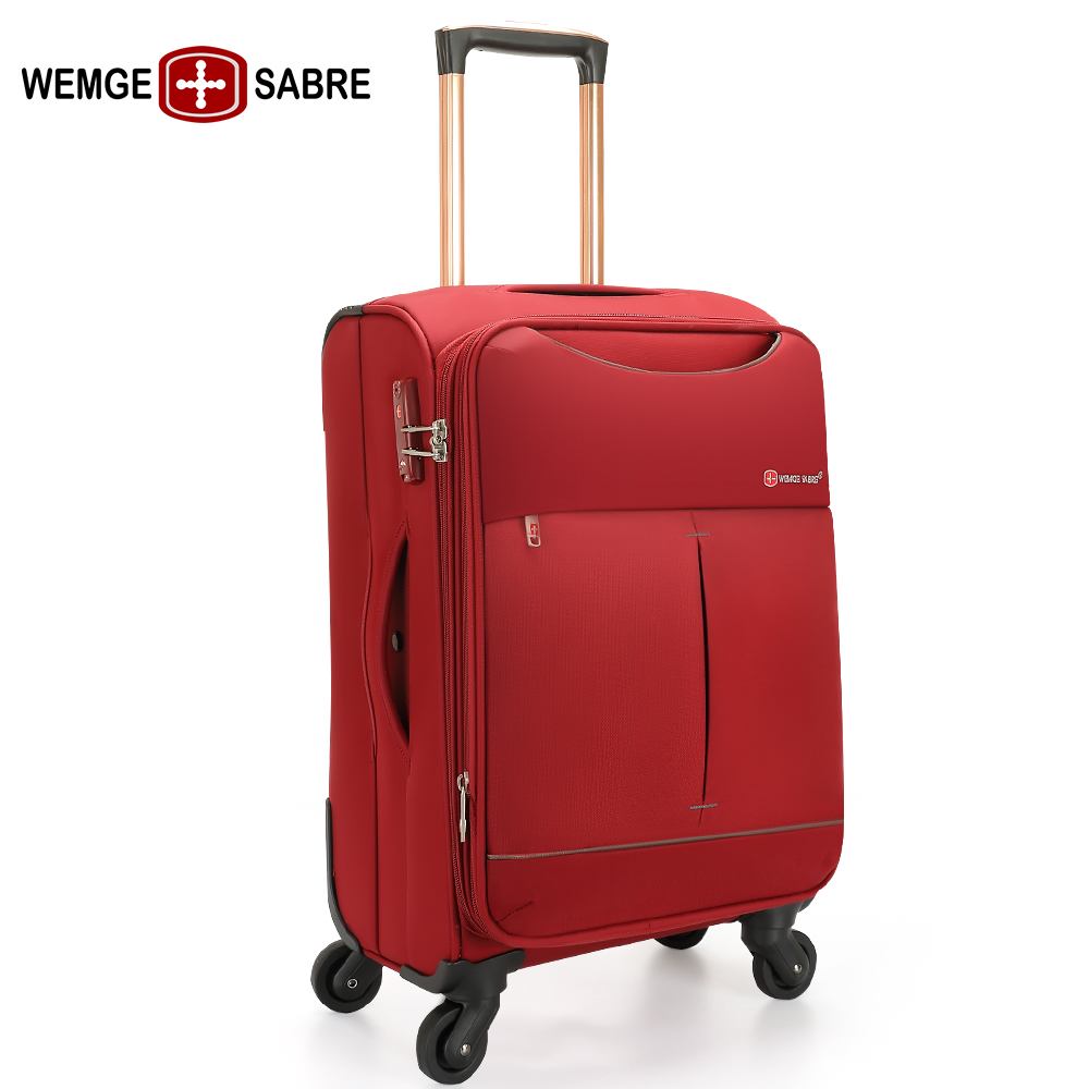 c86f691d8d4 Swiss Army Knife business trolley case universal wheel cloth case soft case  oxford cloth suitcase password box men and women line