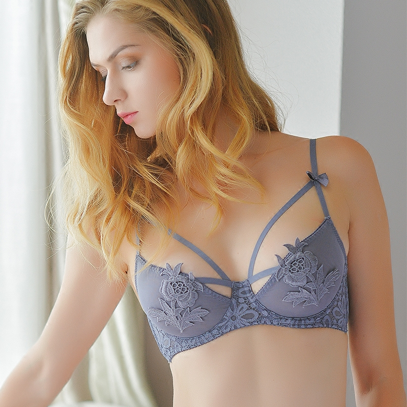 64dc373b34 Girl Beauty House spring and summer sexy strap underwear bra single piece  with a steel ring