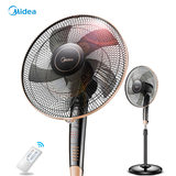 Midea electric fan floor fan household table fan remote control timing student dormitory energy-saving electric fan big wind