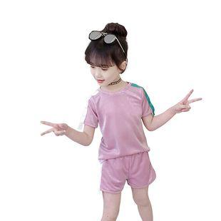 中大童女韩版夏装时髦洋气短袖两件套套装