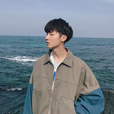 Mùa hè hip hop Hàn Quốc phong cách chic áo khoác nam Hàn Quốc phiên bản của xu hướng của sinh viên lỏng lẻo nhỏ tươi mosaic jacket ins với cùng một đoạn