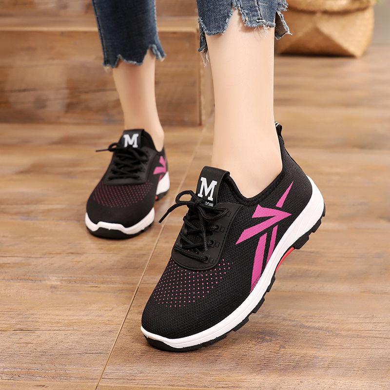 99布鞋女单鞋一脚蹬休闲女网鞋运动鞋防滑透气夏季女鞋妈妈鞋