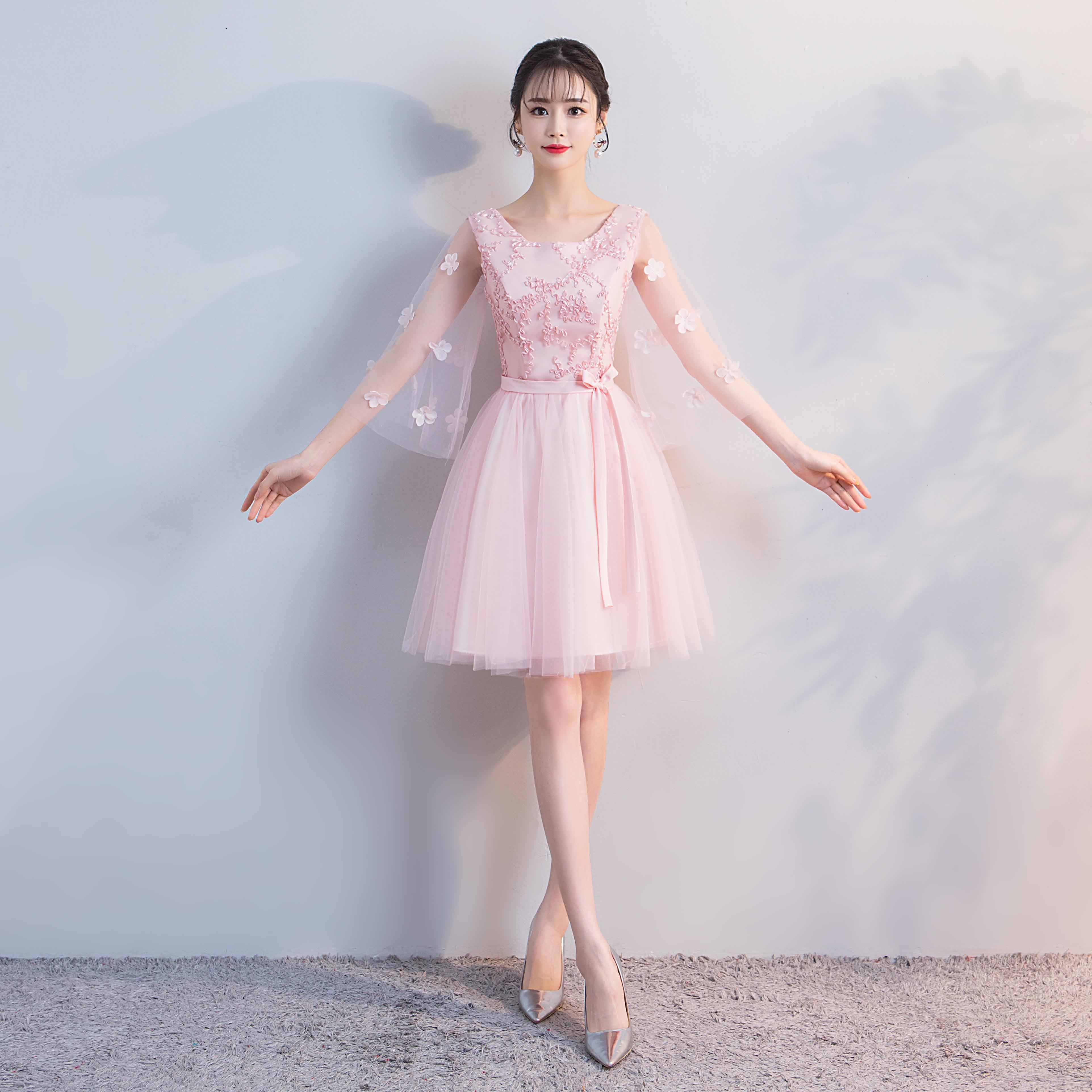 754deb067a05 Bridesmaid dress female short section 2019 new Korean version of ...