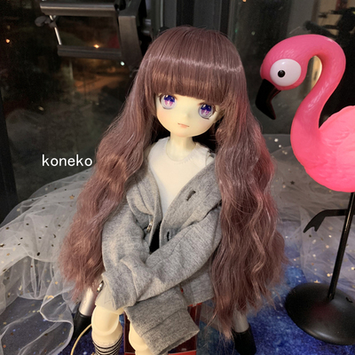 taobao agent 【Free shipping】 Bjd doll wig 3 points 4 points 6 points giant baby purple custom color small wavy curly hair