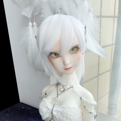 taobao agent 【Free shipping】BJD Wig Elf Wind White Milky Gold Pure Hand Hot Hand Change Hair Send Hair Clip b94