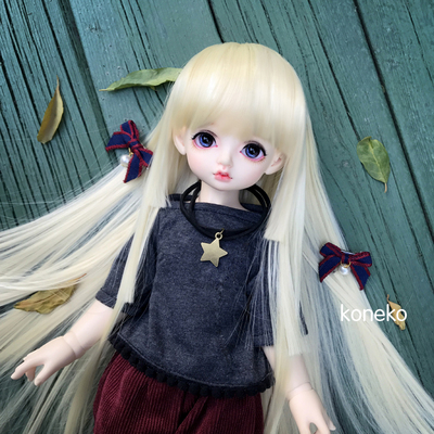taobao agent 【Free shipping】 BJD/SD doll wig 346 points for giant baby 3 knives 4 knives flat full-size multi-color customization