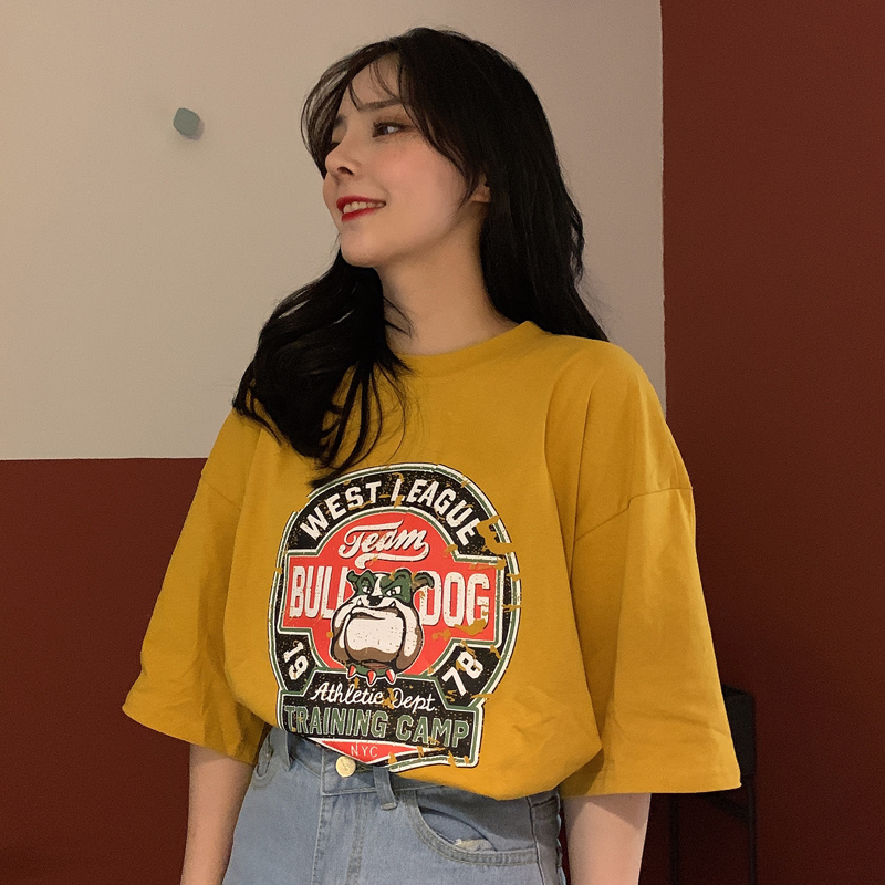 2019 summer new fat mm sister large size women's long loose short-sleeved women's T-shirt cover belly shirt 200 kg