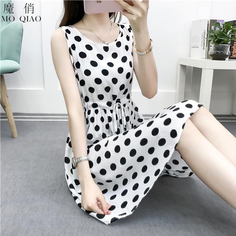 棉绸睡衣裙女夏季薄款时尚可外穿家居服睡裙夏天碎花人造棉连衣裙