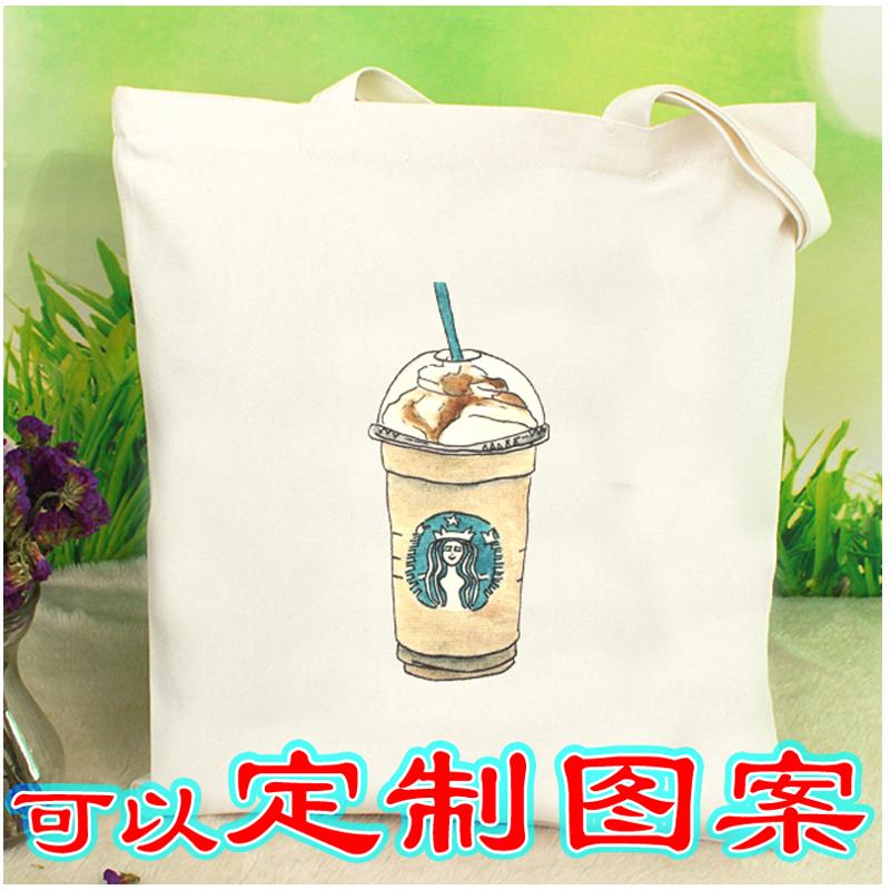 帆布包女单肩包帆布包定制logo韩版简约百搭购物袋手提袋环保袋包