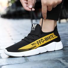 网面男士休闲鞋男款男运动鞋跑步鞋梅西同款韩版男鞋夏季ins潮鞋