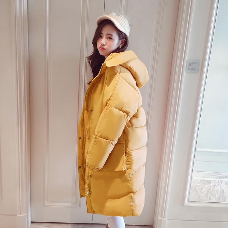 冬季女中长款加厚宽松学生ins面包服