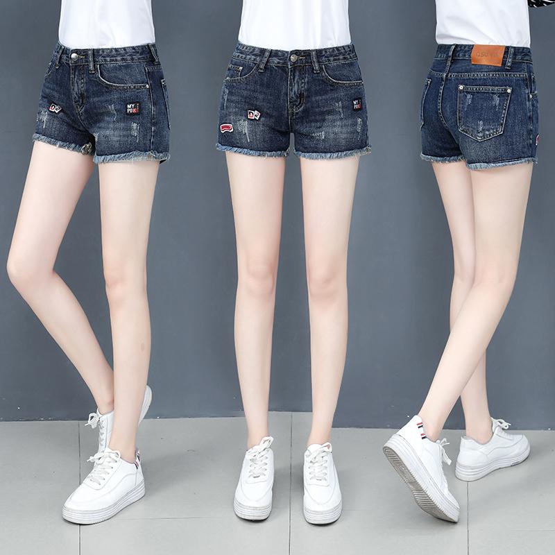 牛仔短裤女春装2020新款高腰裤子直筒裤宽松显瘦夏季女裤潮热裤女